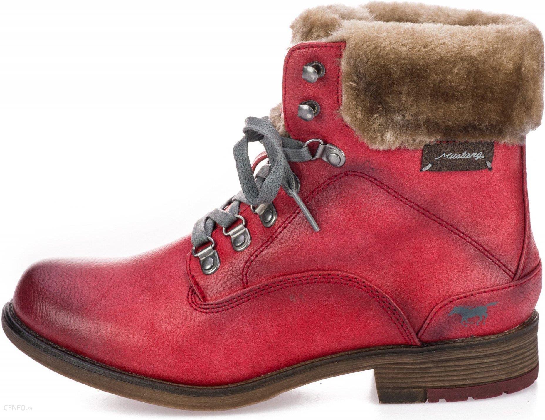84101fc130d4a Mustang buty za kostkę damskie 37 czerwony - Ceny i opinie - Ceneo.pl
