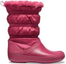 Crocs śniegowce w koloru fuksja Crocband Winter Boot Pomegranate - W9 048fbd651d
