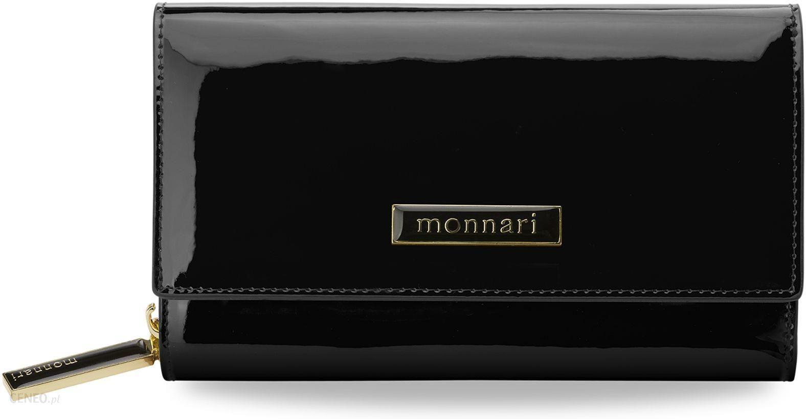 f362866a0829e Ekskluzywny portfel damski skórzany monnari na zamek i zatrzaski - czarny -  zdjęcie 1
