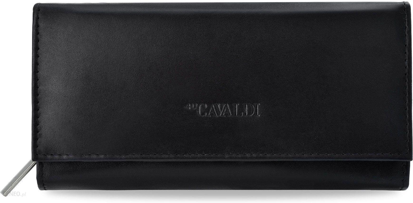 ed65a03a09455 Klasyczny portfel damski cavaldi harmonijka skóra naturalna - czarny -  zdjęcie 1