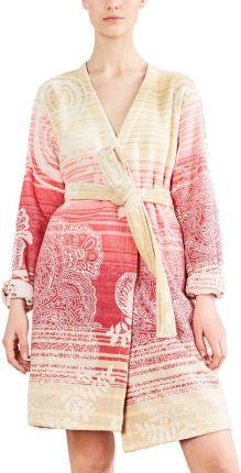 8959b49f59f570 Mohito - Kimonowy szlafrok z koronką - Różowy - Ceny i opinie - Ceneo.pl