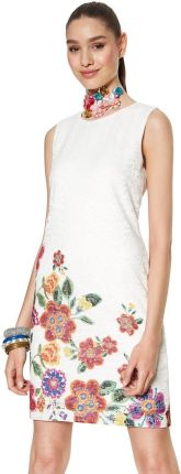 733fd4e1577f6 Desigual biała sukienka koronkowa Karlin - 42