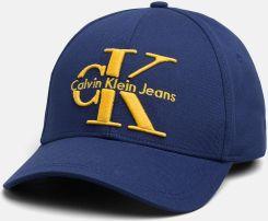 Calvin Klein niebieska czapka z daszkiem z żółtym logiem Ceny i opinie Ceneo.pl