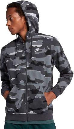Bluza męska moro Sportswear Club Camo Crew Nike (bordowa