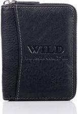 cf464b4676f1 Skórzany portfel męski na zamek Wild things Only GA183 czarny - Czarny