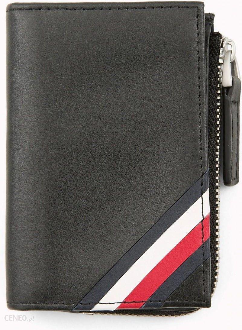 21a3bac3890bb Tommy Hilfiger czarny męski portfel etui na dokumenty skórzany Corp Edge  Zip Coin - zdjęcie