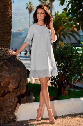 7b39b02ee8 Różowa Sukienka Damska KIMBERLY Kopertowa Size Plus - różowy - Ceny ...