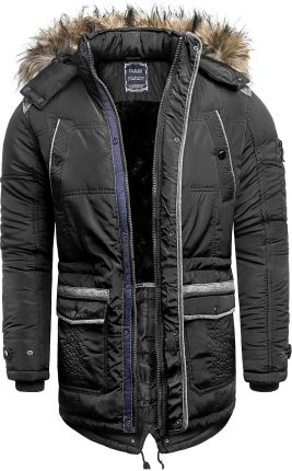 4c313377270c8 Męska kurtka zimowa EWM751 - czarna