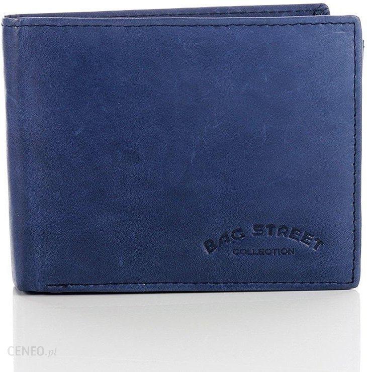 9b2faea9ba1dc Skórzany portfel męski Bag Street GA189 niebieski - niebieski - zdjęcie 1