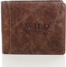 162dbfedd1b1b9 Skórzany portfel męski Wild things Only GA186 brązowy - brązowy ...