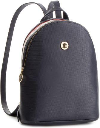 1aebc138b13ef Plecak TOMMY HILFIGER - Effortless Saffiano Backpack AW0AW06129 901 eobuwie