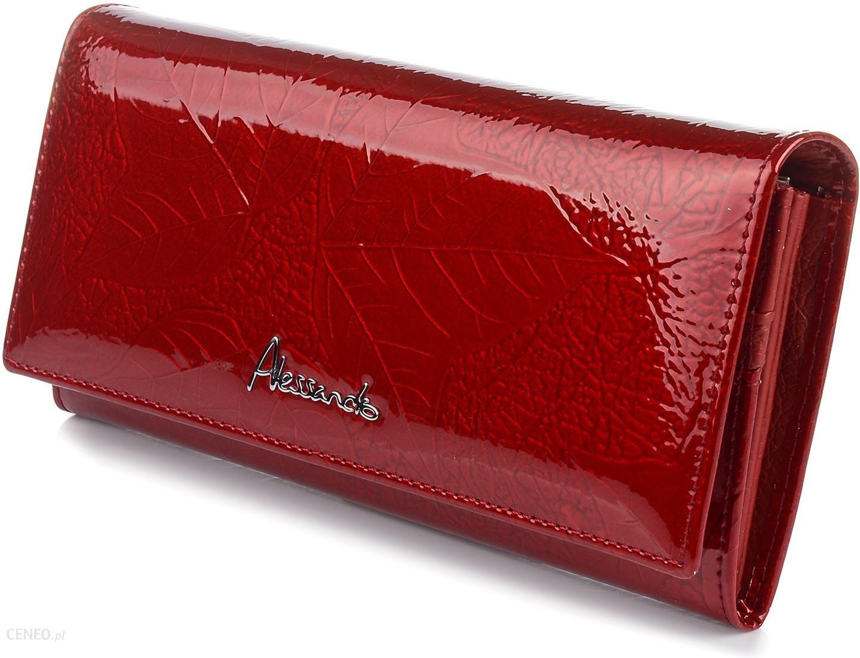 ca65cba403641 A.Paoli portfel skórzany damski lakierowany liście pudełko U65 - zdjęcie 1