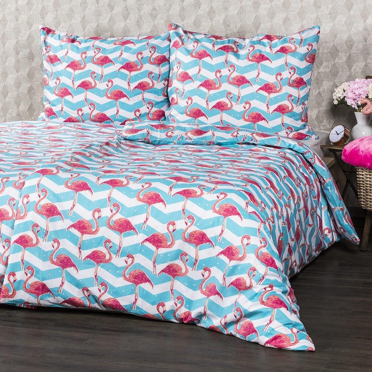 4home Pościel Bawełniana Flamingo 140x200 Cm 70x90 Cm 140x200 Cm