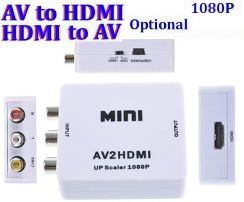 AliExpress Composite RCA AV HDMI CVBS to HDMI Adapter Support HD 720P 1080P AV to HDMI ,Mini hdmi to av Video Converter