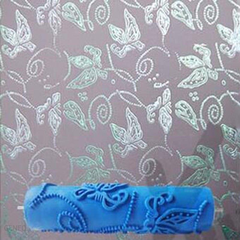 Aliexpress 7 Calowy 3d Gumy ściany Malarstwo Dekoracyjne Rolki Wałek Do Malowania ścian Bez Uchwytu Uchwyt Motyl Rolki Tapety Narzędzia 116c