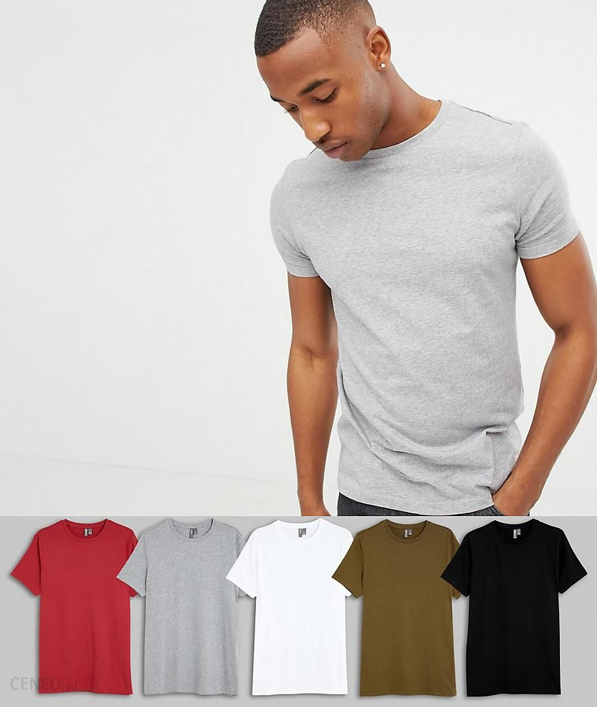 a33f644c353b ASOS DESIGN organic t-shirt with crew neck 5 pack SAVE - Multi - zdjęcie