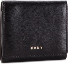 27566b75c7d26 Mały Portfel Damski DKNY - Bryant Trifld Wallet R7413100 Blk Gold BGD  eobuwie