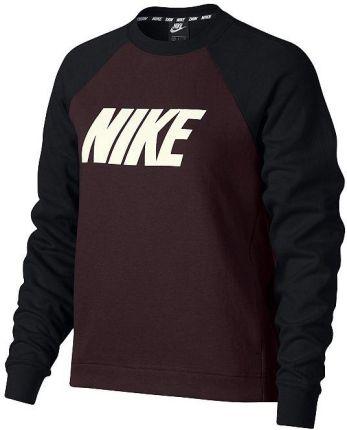 Nike Damskie | Bluza Nk Top Versa Crew Bordowy