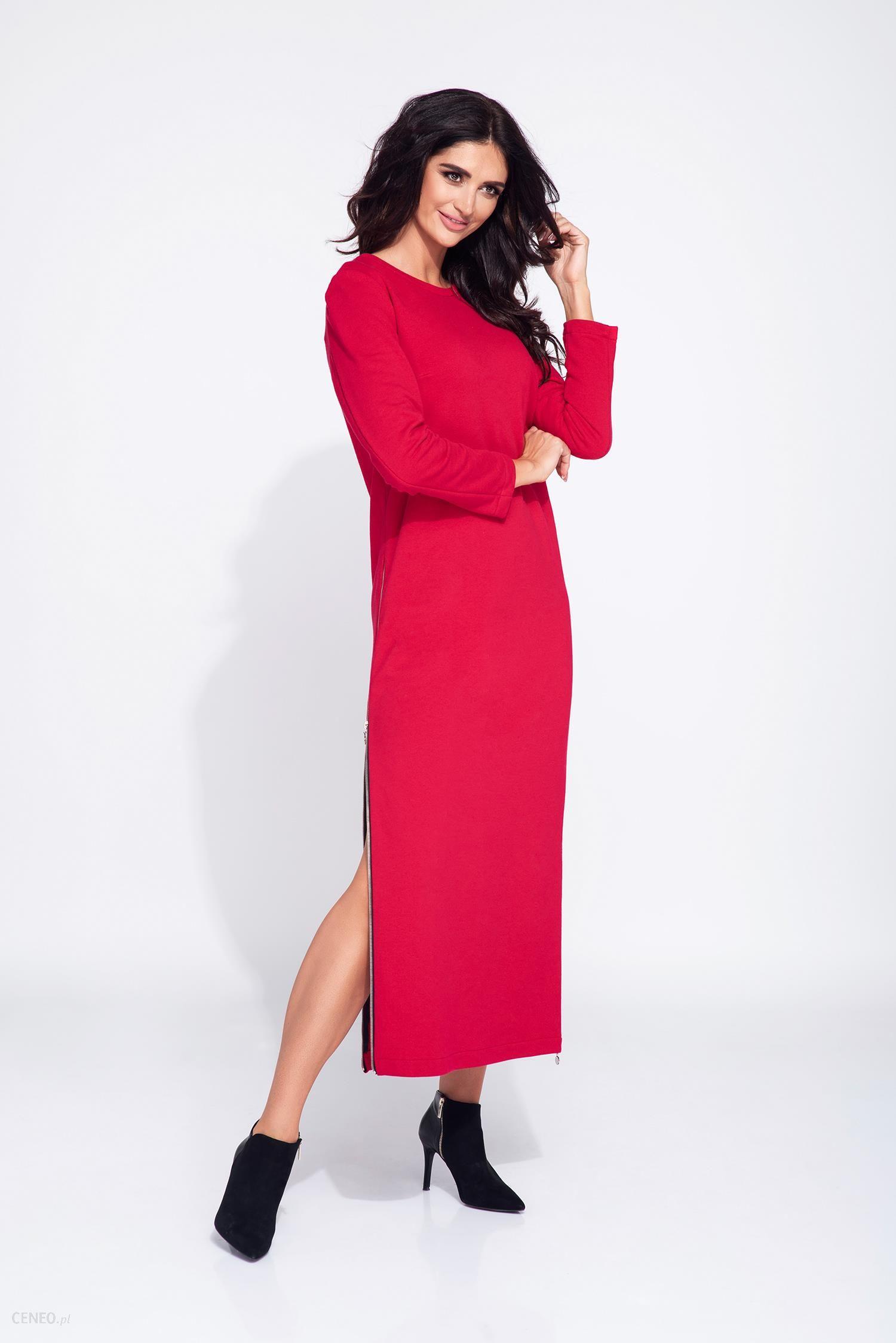 1d638be644 Bien Fashion Długa sukienka bawełniana z zamkiem czarny - Ceny i ...