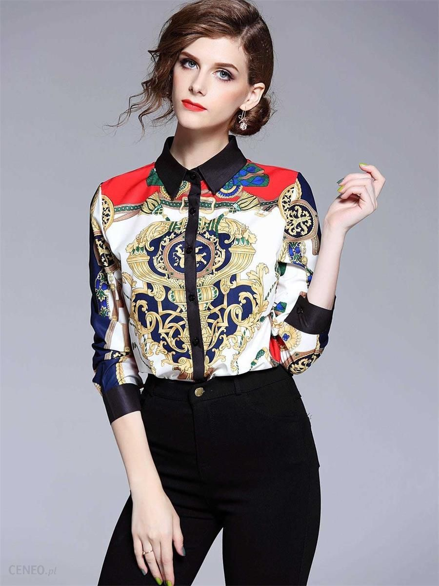 c1100100d4 Bien Fashion Kolorowa koszula damska z printem wiele kolorów - zdjęcie 1