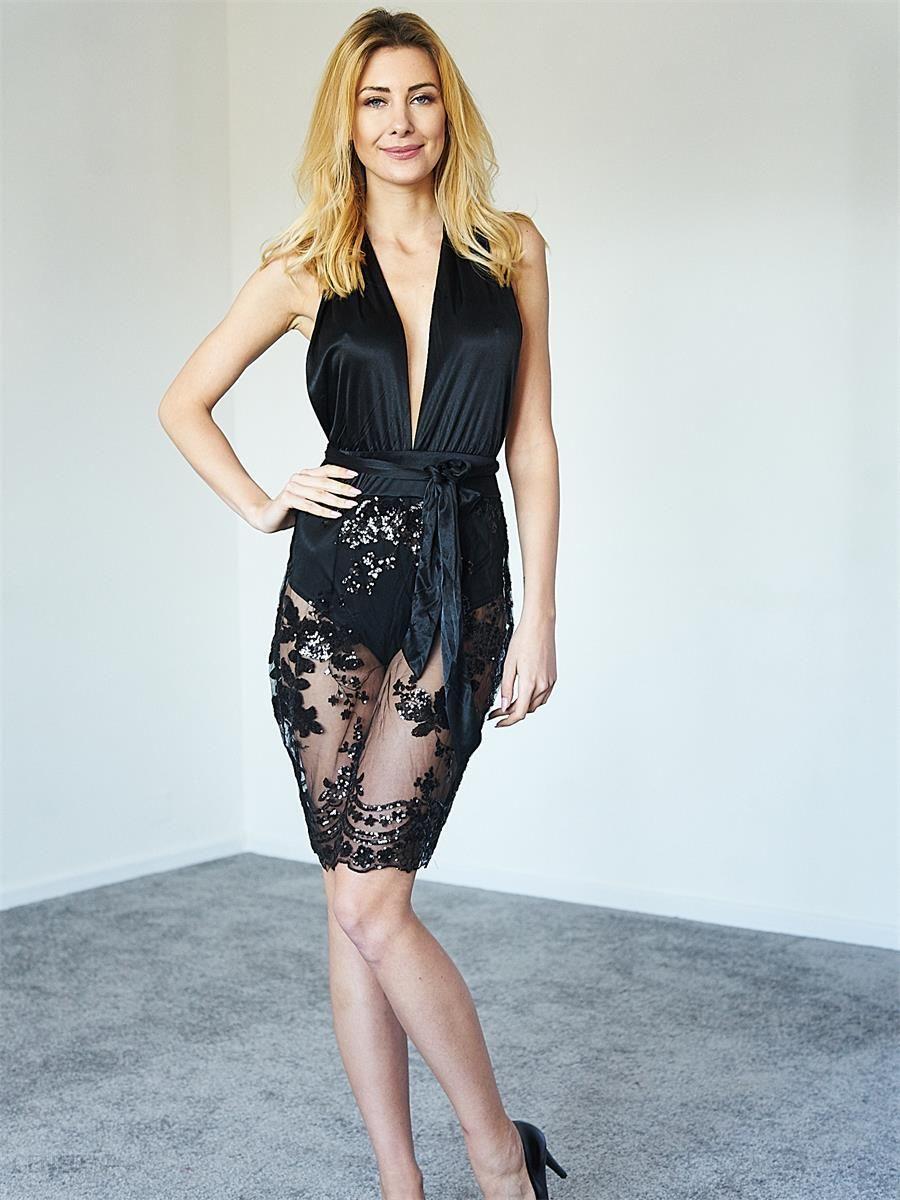 1381fc96d2 Kelly Couronne Sukienka czarna z cekinami Catherine czarny - Ceny i ...