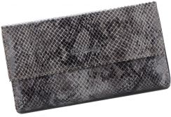 800a46e0608be Pierre Cardin Firmowe Portfele Damskie wykonane z wysokiej jakości skóry  naturalnej z motywem Węża Szare ...