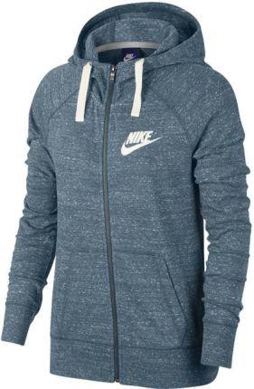 Nike Damska Bluza Rozpinana Z Kapturem Szara 2019 Ceny i