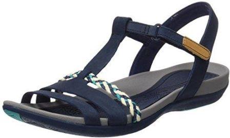 b097c528 Amazon Clarks tealite Grace damski T sandały na sprzączkę, kolor: niebieski  (granatowy)