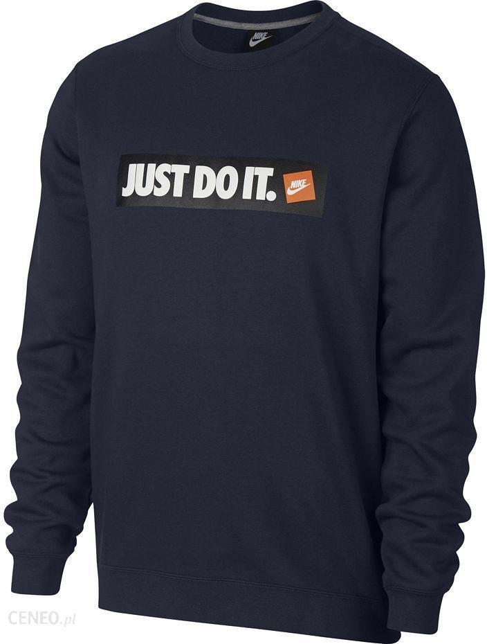 Bluza męska Sportswear NSW Crew Fleece Nike (granatowa)