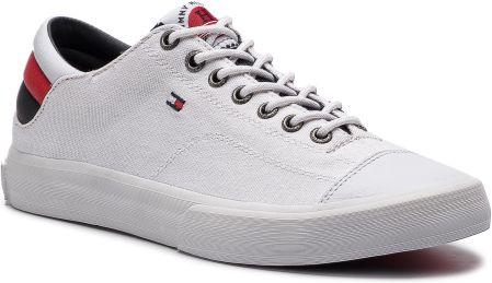 3f3b1195bdfd1 Tenisówki TOMMY HILFIGER - Long Lace Sneaker FM0FM01947 White 100 eobuwie. Trampki  męskie ...
