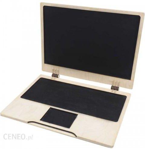 Deku Laptop Edukacyjny Drewniany Farba Tablicowa 000102