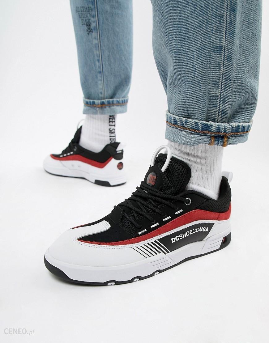 DC Shoes Legacy 98 Slim Trainer in Black & Red Black Ceneo.pl