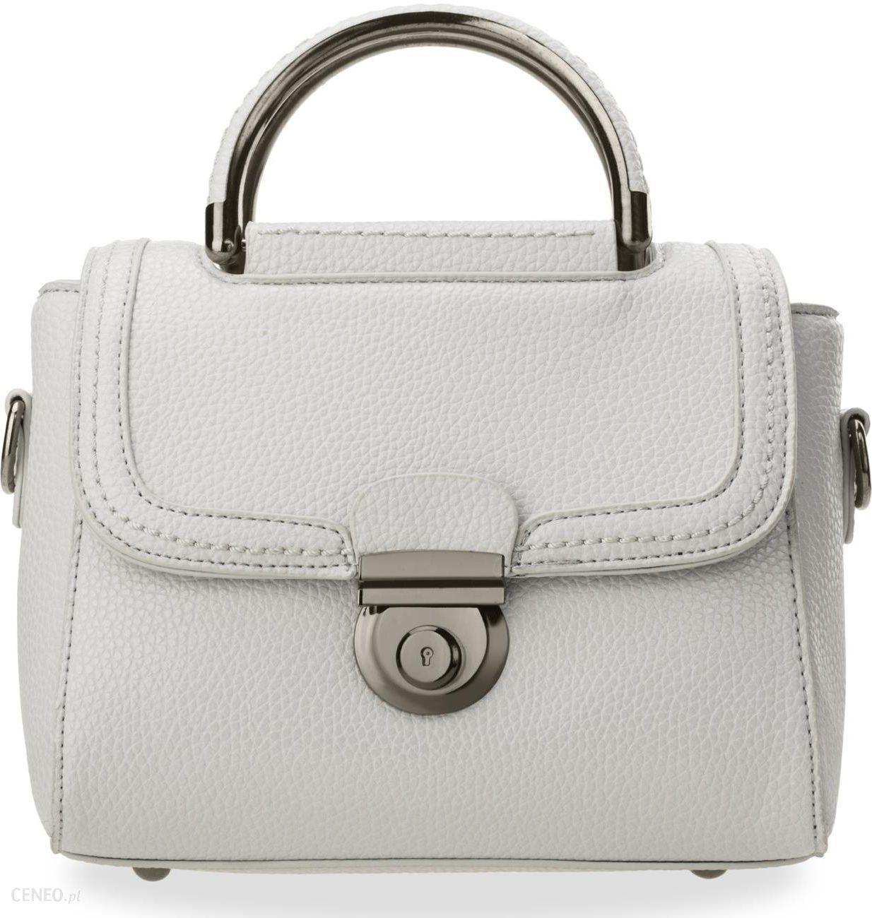 8f915ceb67fb6 Mały gustowny kuferek torebka damska do ręki i na ramię - popielaty -  zdjęcie 1