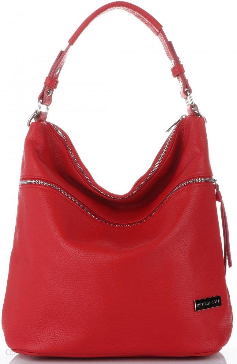 7e789d83aec1b Vittoria Gotti Uniwersalne Włoskie Torebki Damskie Skórzane do noszenia na  co dzień Czerwone (kolory)