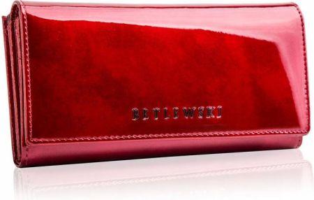 60412f58edf96 Duży skórzany portfel damski lakier Betlewski Allegro