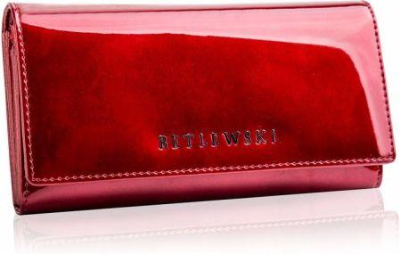 f56c5468d93fb Skórzany portfel damski duży lakierowany Betlewski - Ceny i opinie ...