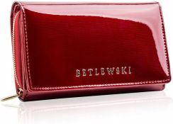 a933267f2f2a1 Skórzany portfel damski lakierowany Betlewski RFID Allegro