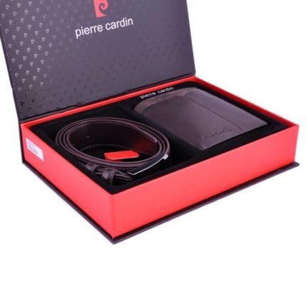 f93203e060014 Zestaw prezentowy męski PIERRE CARDIN ZG-36 ciemny brąz - portfel + pasek