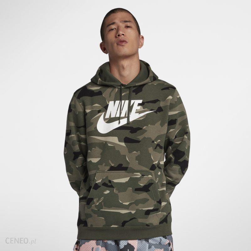 Męska bluza z kapturem i wzorem moro Nike Sportswear Club Khaki Ceny i opinie Ceneo.pl