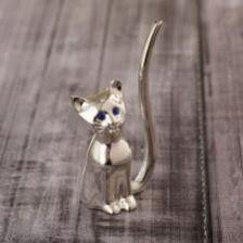 9e2e49b0c1775 Villa Italia Silber Figurka Kot Posrebrzany 10Cm
