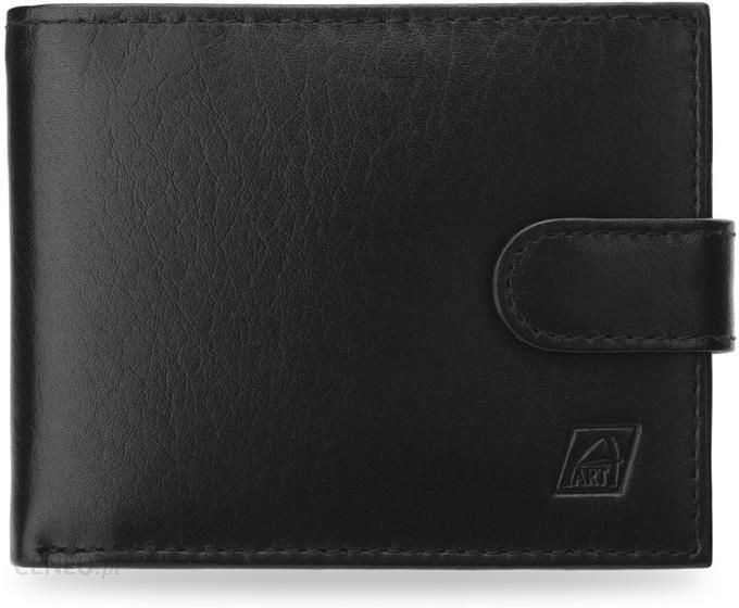97cc43a618e93 Elegancki portfel męski a-art poziomy wykonany ze skóry naturalnej - czarny  - zdjęcie 1