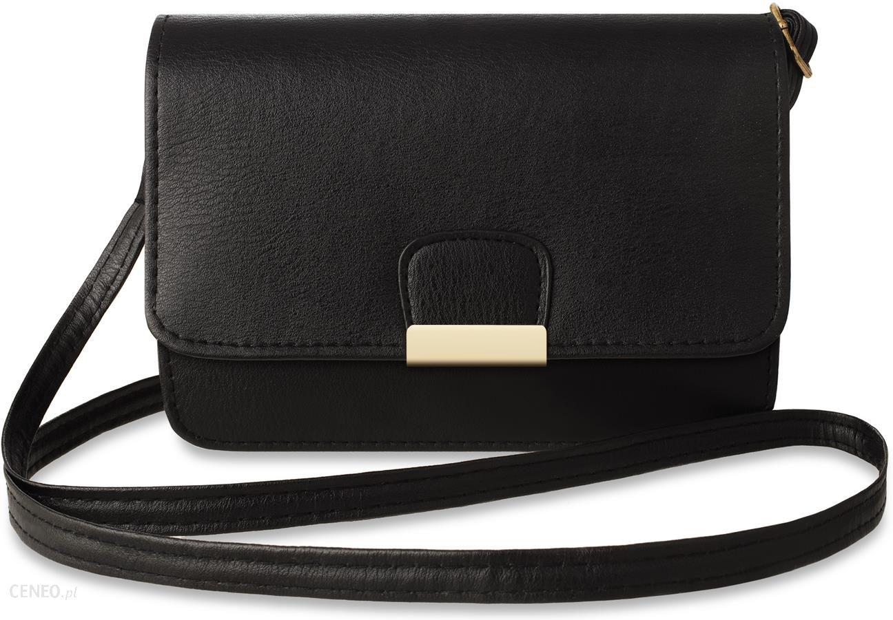 4afd93f87e6c2 Klasyczna mała damska torebka - elegancki kuferek z klapką - czarny -  zdjęcie 1