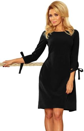 ea19ba11e3 Bawełniana sukienka midi z wiązaniem pod szyją granatowa B070 - Ceny ...