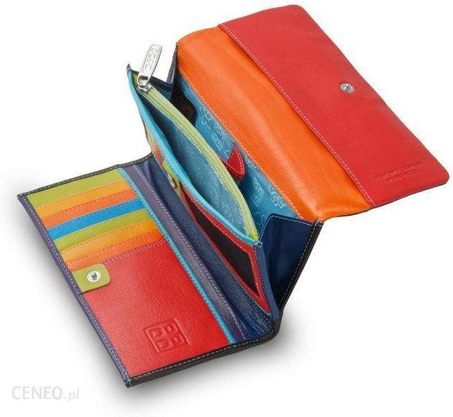 2013ca5454582 Skórzany duży portfel damski marki DuDu®, czarny + kolorowy środek -  zdjęcie 1