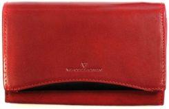 594a55d19db3b Czerwona damska portmonetka VIP Collection V05-01-029-31