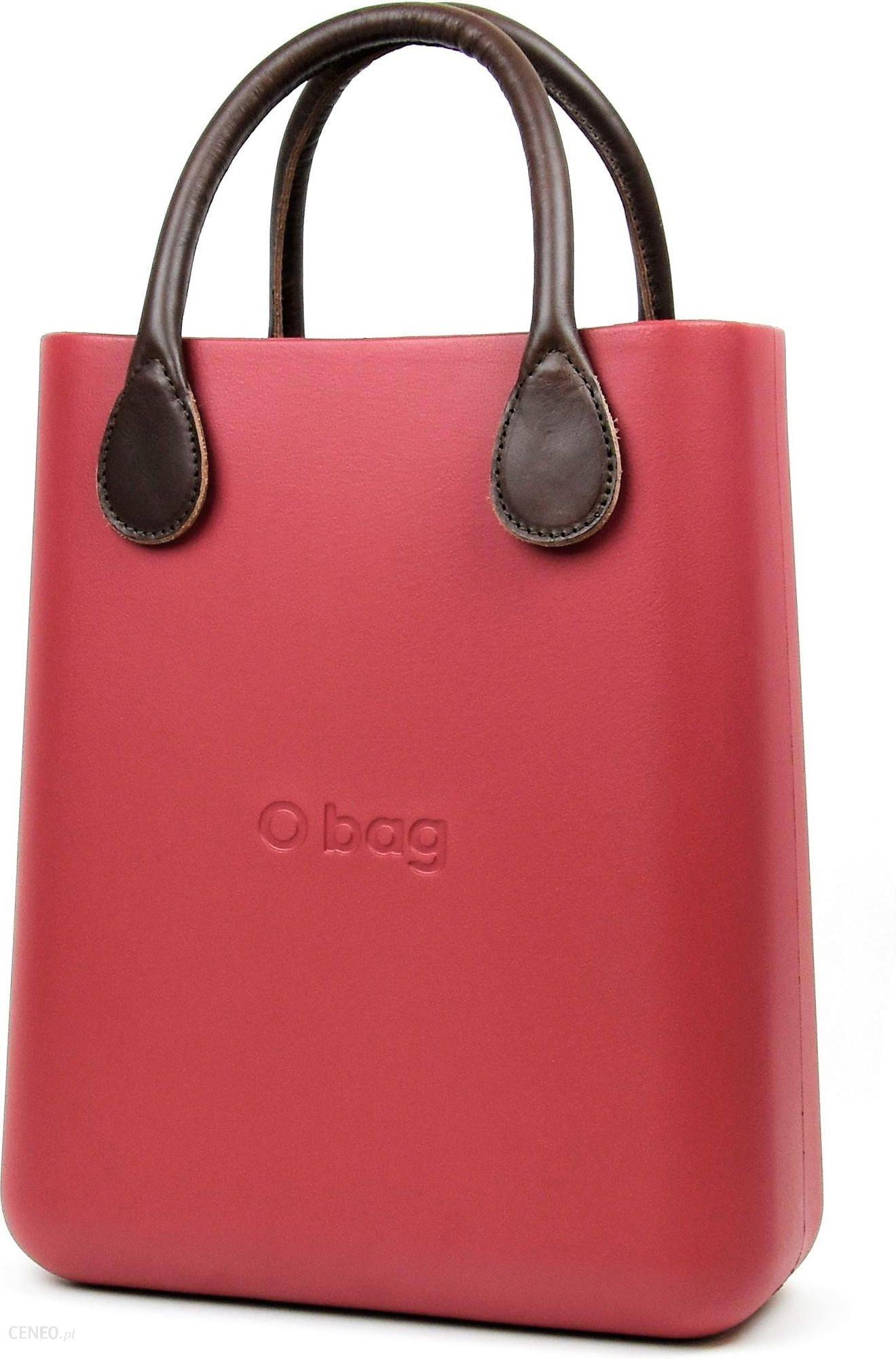 09864609baa30 O bag różowe torebka O Chic Marsala z krótkimi brązowymi uchwytami ze skajki  - zdjęcie 1
