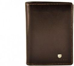 0698e3e4139868 Pionowy skórzany portfel męski marki Peterson, brązowy, RFID - Ceny ...