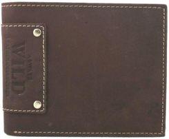 7a029f894ad82 Poziomy portfel męski Always Wild ze skóry nubukowej - ciemny brąz