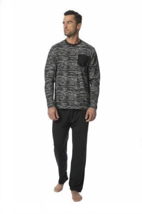 e00d9251bfff3b Calvin Klein niebiesko-biała piżama L/S Pant Set - S - Ceny i opinie ...
