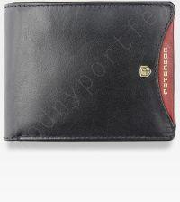 13629a1a696f4 Portfel Męski Peterson Skórzany Poziomy Wyjątkowy Ukryte Karty 380 RFID STOP